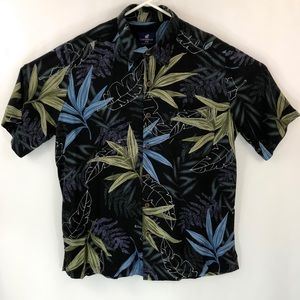 Caribbean Joe Men's Silk Hawaiian Aloha Shirt XL